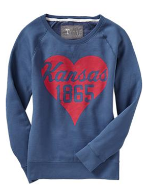 kansas sweatshirt