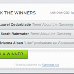 Winners of ProFoot Giveaway