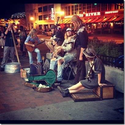 downtown street band